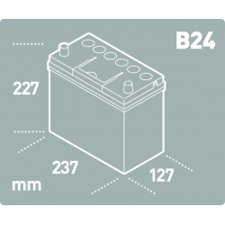 Batería Tudor TUDOR TB454-2