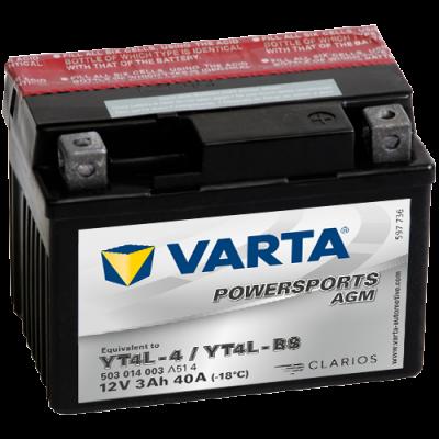 Batería Varta YT4L-4,YT4L-BS VARTA 503014003