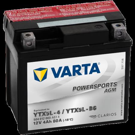 Batería Varta YTX5L-4,YTX5L-BS VARTA 504012003