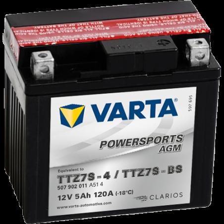 Batería Varta TTZ7S-4,TTZ7S-BS VARTA 507902011