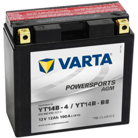 Batería Varta YT14B-4,YT14B-BS VARTA 512903013