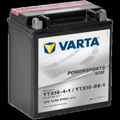 Batería Varta YTX16-4-1,YTX16-BS-1 VARTA 514901022