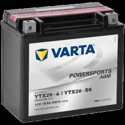 Batería Varta YTX20-4,YTX20-BS VARTA 518902026
